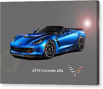Corvette Z06 Convertible Canvas Print