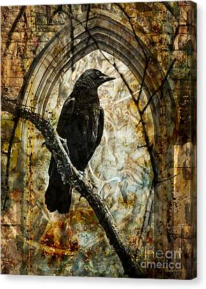 Corvid Arch Canvas Print by Judy Wood