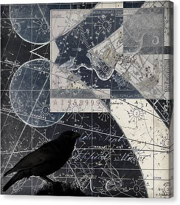 Charts Canvas Print - Corvus Star Chart by Carol Leigh