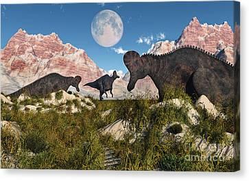 Corythosaurus Nesting Ground Set Canvas Print