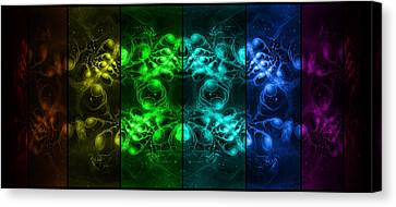 Cosmic Alien Eyes Pride Canvas Print by Shawn Dall