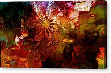 Cosmic Bloom Canvas Print by Amanda Moore