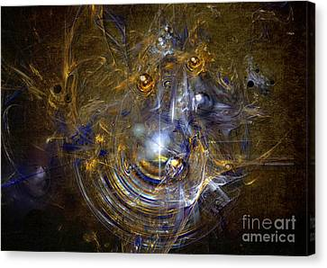 Canvas Print featuring the painting Cosmic Bubbles by Alexa Szlavics