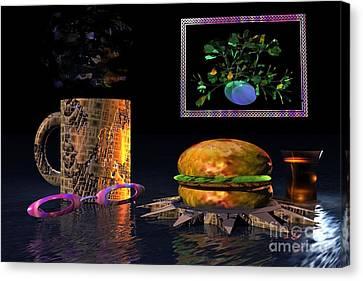 Cosmic Burger Canvas Print by Jacqueline Lloyd