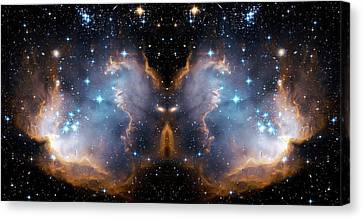 Cosmic Butterfly Canvas Print by Jennifer Rondinelli Reilly - Fine Art Photography