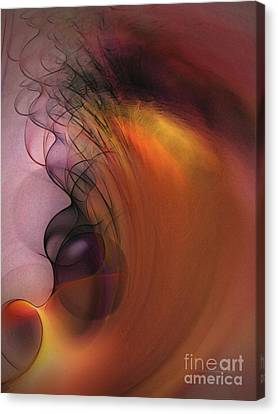 Abstract Expressionism Canvas Print - Cosmic by Karin Kuhlmann