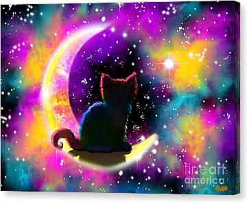 Cosmic Cat Canvas Print by Nick Gustafson