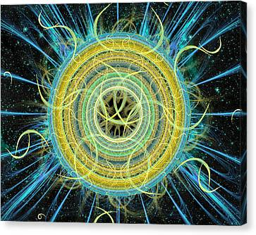 Cosmic Circle Fusion Canvas Print