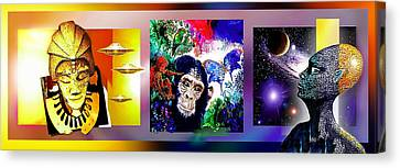 Cosmic Citizen Canvas Print by Hartmut Jager