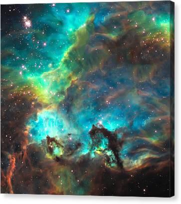 Cosmic Cradle 3 Star Cluster Ngc 2074 Canvas Print