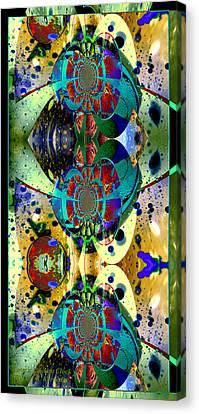 Cosmic Cuckoo Clock Canvas Print by Robert Kernodle