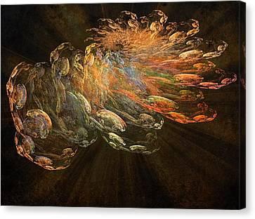 Cosmic Dust And Light Beauty Fine Fractal Art Canvas Print