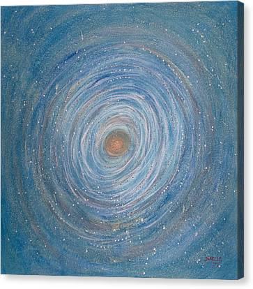 Cosmic Nest Canvas Print by Janelle Schneider