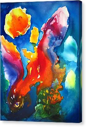 Cosmic Fire Abstract  Canvas Print by Carlin Blahnik