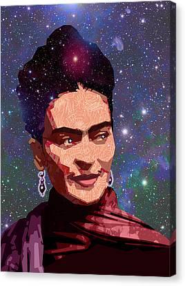 Cosmic Frida Canvas Print by Douglas Simonson