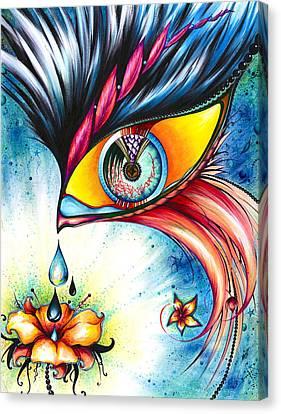 Cosmic Garden Canvas Print by Andrea Carroll