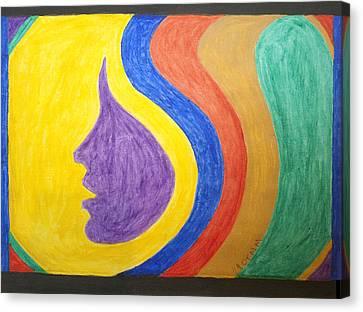 Cosmic Girl Profile Canvas Print by Stormm Bradshaw