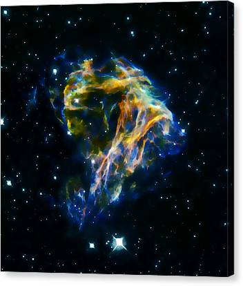 The Universe Canvas Print - Cosmic Heart 2  by Jennifer Rondinelli Reilly - Fine Art Photography