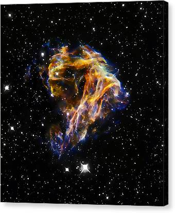 The Hubble Telescope Canvas Print - Cosmic Heart by Jennifer Rondinelli Reilly - Fine Art Photography