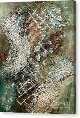 Silvered Salmon Canvas Print by Phyllis Howard