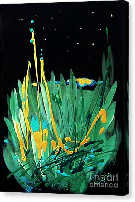 Canvas Print featuring the painting Cosmic Island by Holly Carmichael