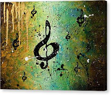 Piano Canvas Print - Cosmic Jam by Carmen Guedez