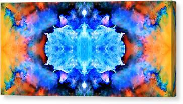 Cosmic Kaleidoscope 1 Canvas Print by Jennifer Rondinelli Reilly - Fine Art Photography