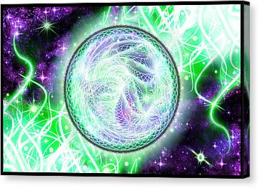 Cosmic Lifestream Canvas Print