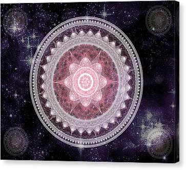 Cosmic Medallions Fire Canvas Print