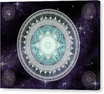 Cosmic Medallions Water Canvas Print