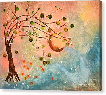 Cosmic Orb Tree Canvas Print by Denise Tomasura