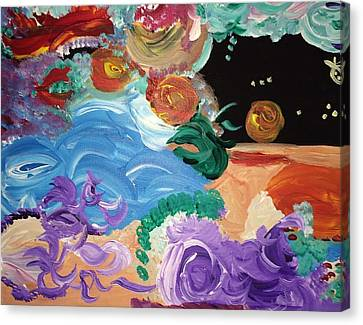 Cosmic Party People Canvas Print by Nicki La Rosa