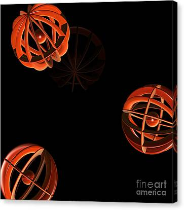 Cosmic Pumpkins By Jammer Canvas Print by First Star Art