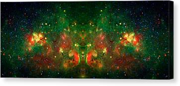Cosmic Reflection 1 Canvas Print by Jennifer Rondinelli Reilly - Fine Art Photography