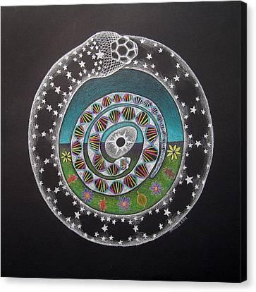 Cosmic Serpent Color Canvas Print