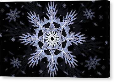 Cosmic Snowflakes Canvas Print