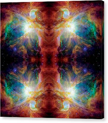 Cosmic Spine Deep Space Reflection Canvas Print by Jennifer Rondinelli Reilly - Fine Art Photography