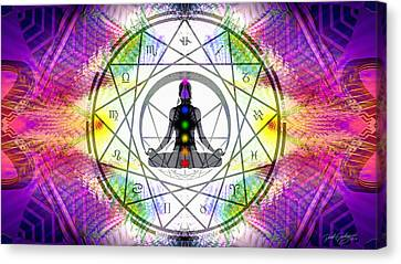 Cosmic Spiral Ascension 14 Canvas Print by Derek Gedney