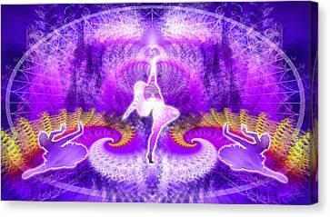 Cosmic Spiral Ascension 27 Canvas Print by Derek Gedney