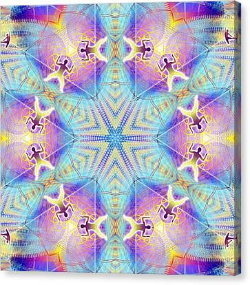 Cosmic Spiral Kaleidoscope 17 Canvas Print by Derek Gedney