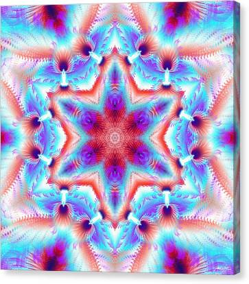 Cosmic Spiral Kaleidoscope 45 Canvas Print by Derek Gedney