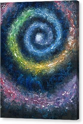Cosmic Spiral Canvas Print by Melinda DeMent