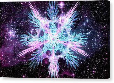 Cosmic Starflower Canvas Print