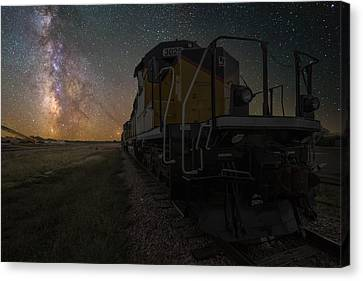 Cosmic Train Canvas Print by Aaron J Groen