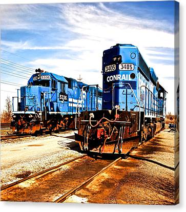 Cosmic Trains Canvas Print by Frozen in Time Fine Art Photography