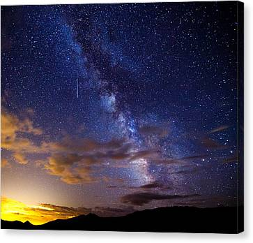 Shower Canvas Print - Cosmic Traveler  by Darren  White