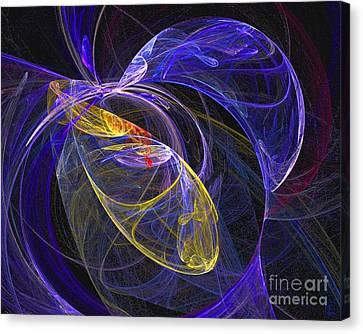 Cosmic Web 1 Canvas Print by Jeanne Liander