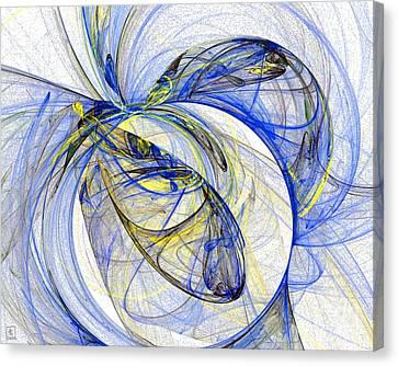 Cosmic Web 5 Canvas Print by Jeanne Liander