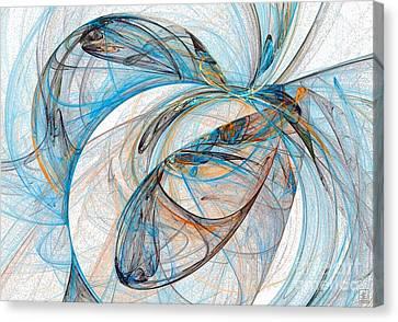 Cosmic Web 6 Canvas Print by Jeanne Liander