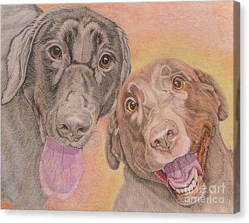 Cosmo And Lucy Canvas Print by Audrey Van Tassell